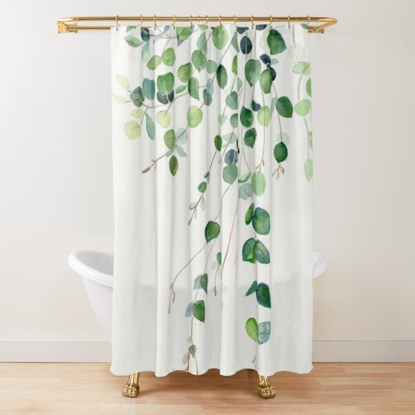 Eucalyptus Watercolor Shower Curtain