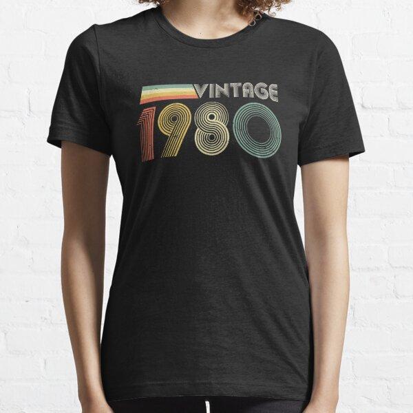 Vintage 1980, 40th Birthday Gift Essential T-Shirt