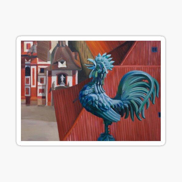 Flying Rooster - Prague Castle Sticker
