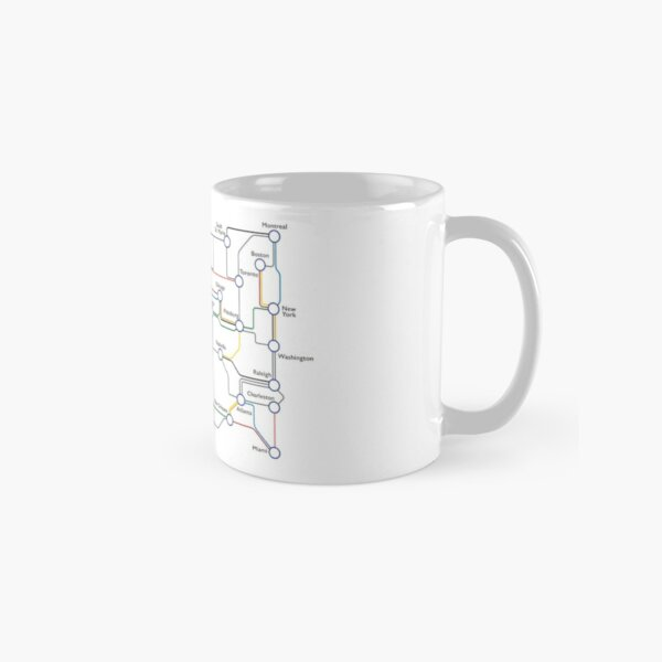 US Railroad - Ticket To Ride - Subway Map Classic Mug