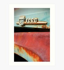Old Ford Detail Art Print