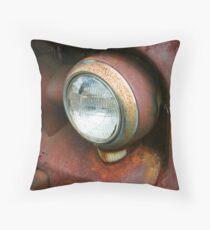 Truck Headlamp Throw Pillow