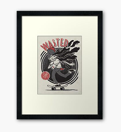 Wasted Youth Framed Print