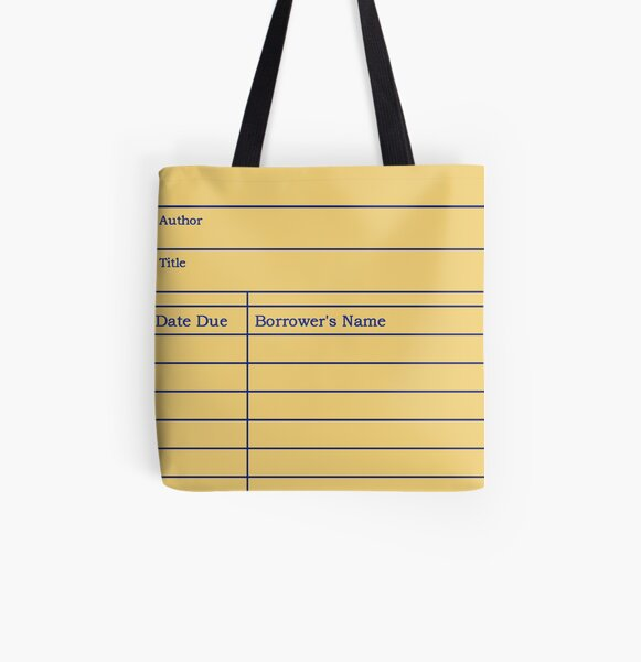 Library Due Date Slip All Over Print Tote Bag