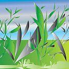 Garden Grasses by IrisGelbart