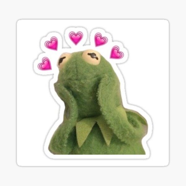 loving kermit Sticker