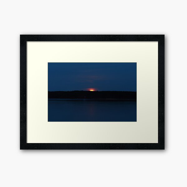 SuperMoon I Framed Art Print