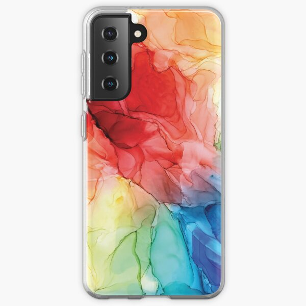 Rainbow Good Vibes Abstract Painting Samsung Galaxy Soft Case