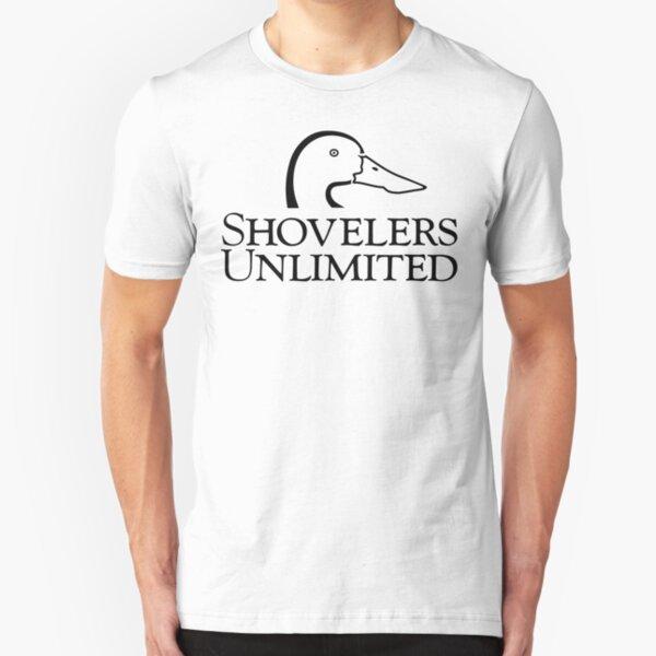 Shovelers Unlimited [Black Print] Slim Fit T-Shirt