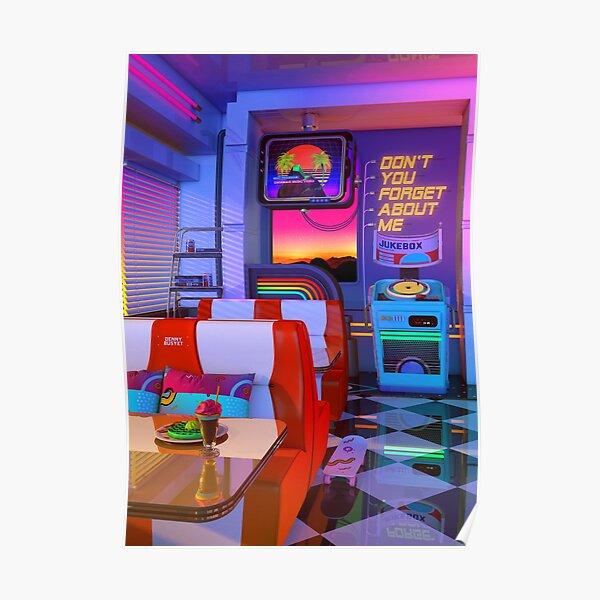 Retrowave Dine & Dream Poster