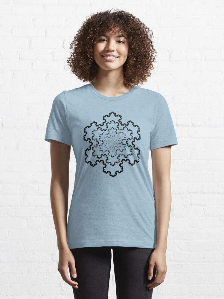 Alternate view of The Koch Snowflake Essential T-Shirt