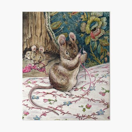 The Mice Go to Work - The Tailor of Gloucester - Beatrix Potter Art Board Print