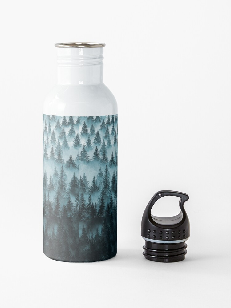 Alternate view of FOREST - a large format watercolor - forest and mountains Water Bottle