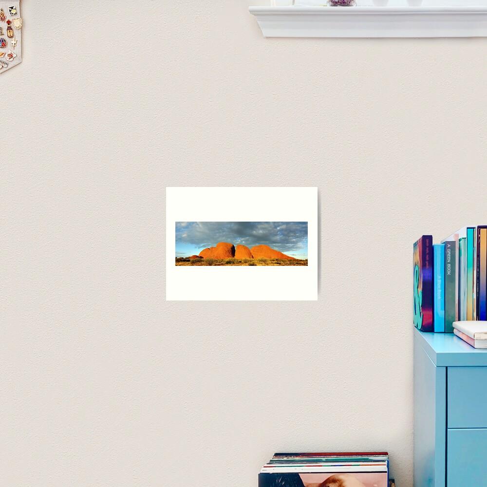 The Olgas (Kata Tjuta), Sunset, Australia Art Print