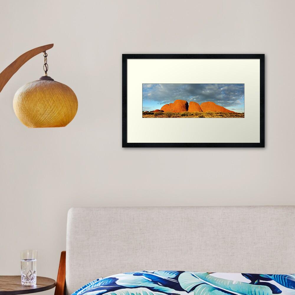 The Olgas (Kata Tjuta), Sunset, Australia Framed Art Print