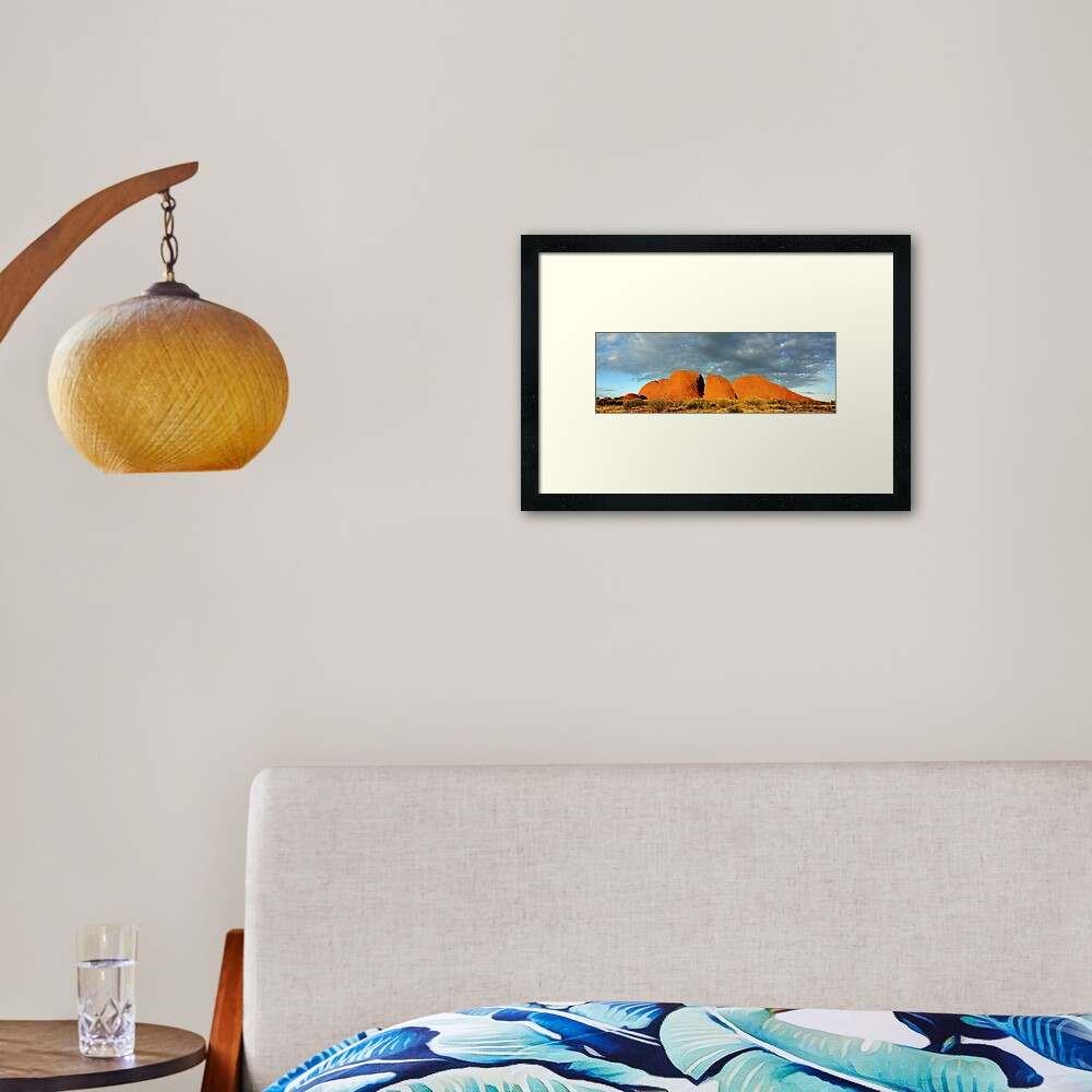 The Olgas (Kata Tjuta), Sunset, Australia Framed Art Print