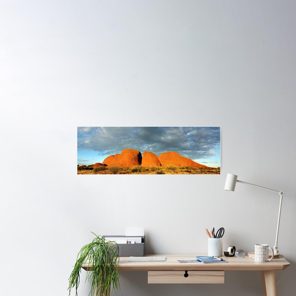 The Olgas (Kata Tjuta), Sunset, Australia Poster