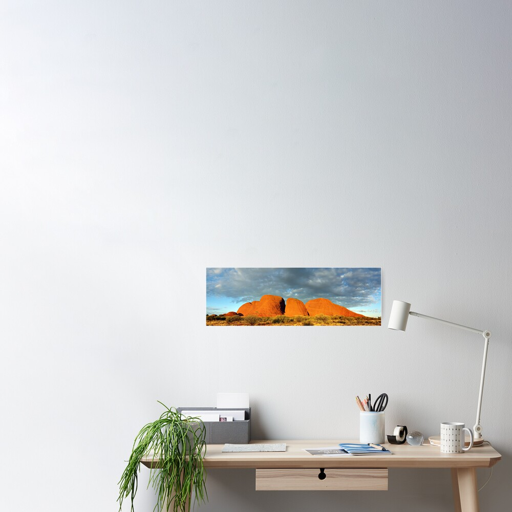 The Olgas (Kata Tjuta), Sunset, Australia Poster
