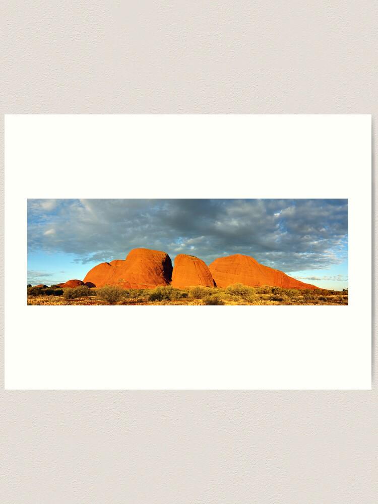 Alternate view of The Olgas (Kata Tjuta), Sunset, Australia Art Print