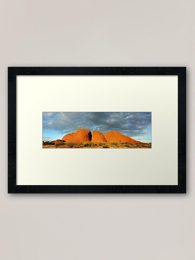 Alternate view of The Olgas (Kata Tjuta), Sunset, Australia Framed Art Print