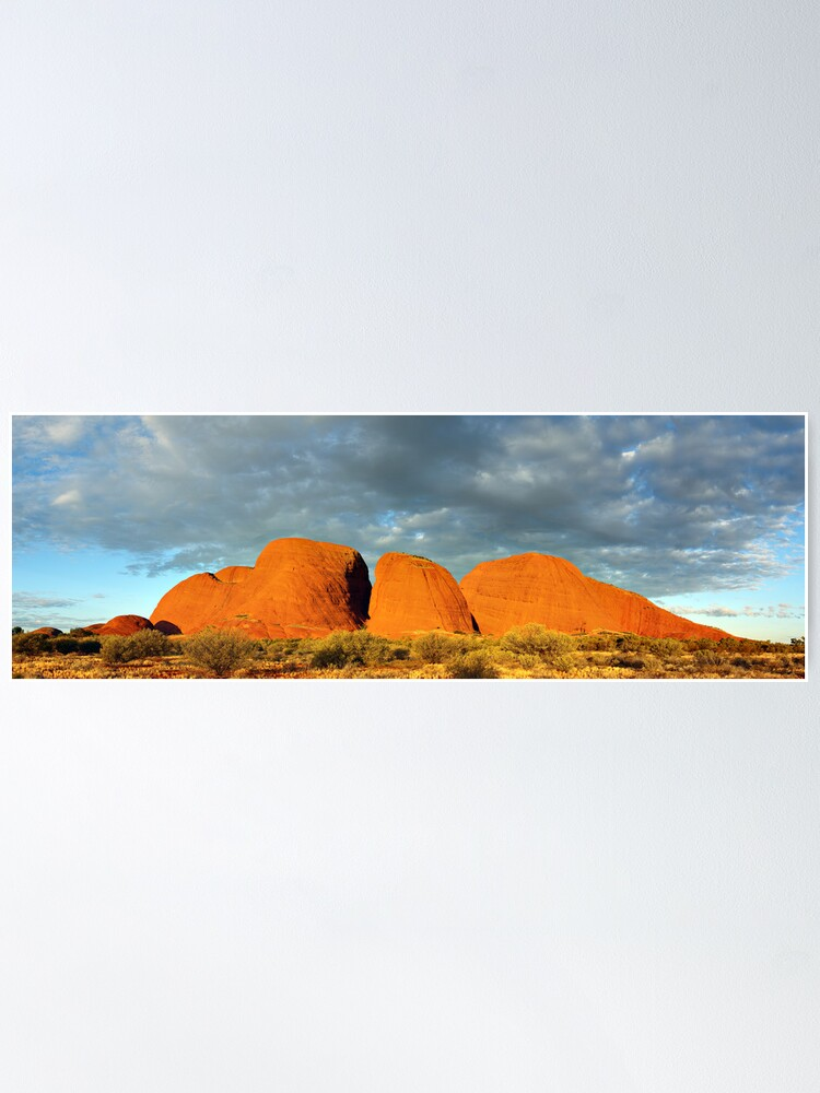 Alternate view of The Olgas (Kata Tjuta), Sunset, Australia Poster