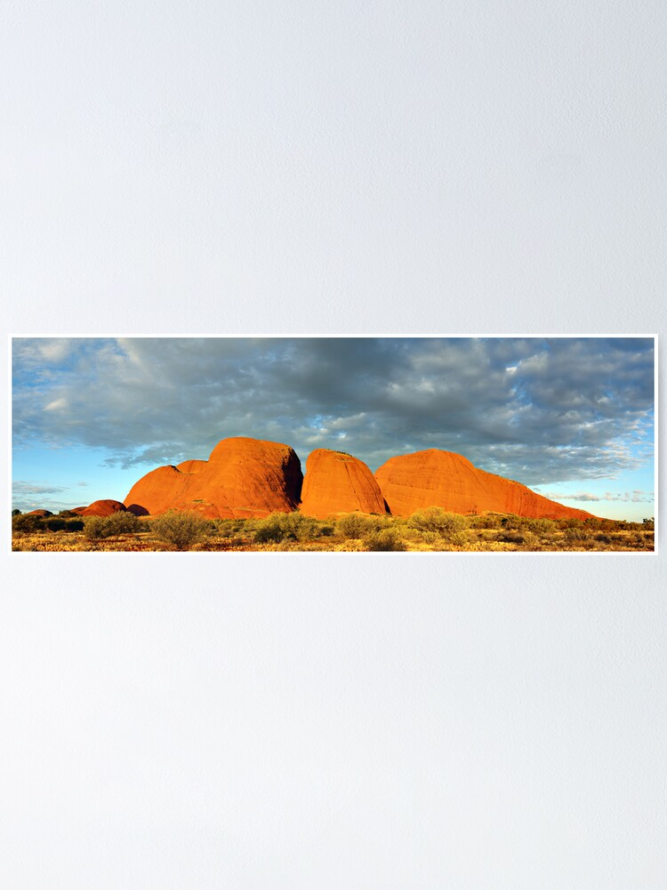Alternate view of The Olgas (Kata Tjuta), Sunset, Australia Poster