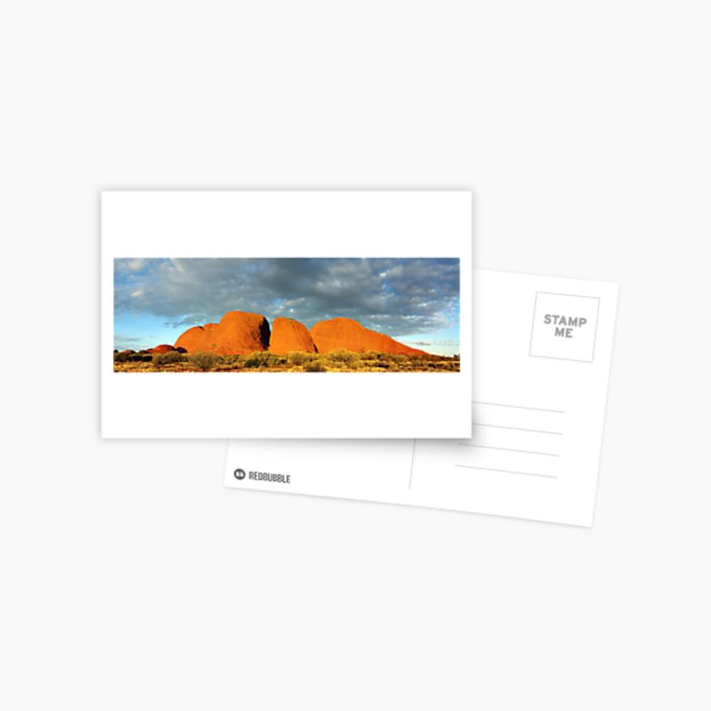 The Olgas (Kata Tjuta), Sunset, Australia Postcard