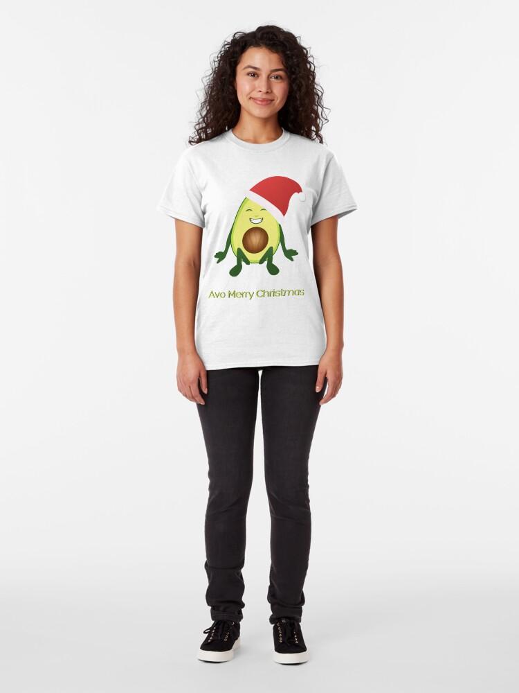 Alternate view of Avo Merry Christmas  Classic T-Shirt