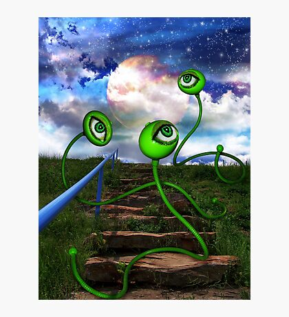 Love Crazed Perigee Moon Worms Photographic Print