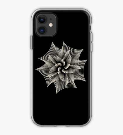 Abstract Monochrome Flower iPhone Case