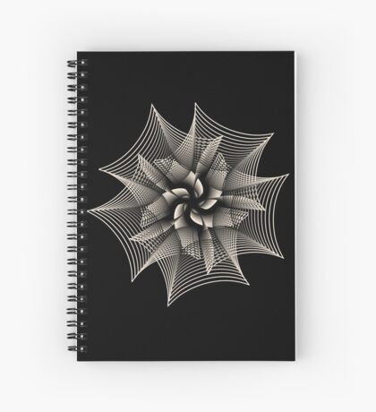 Abstract Monochrome Flower Spiral Notebook
