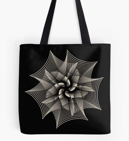 Abstract Monochrome Flower Tote Bag