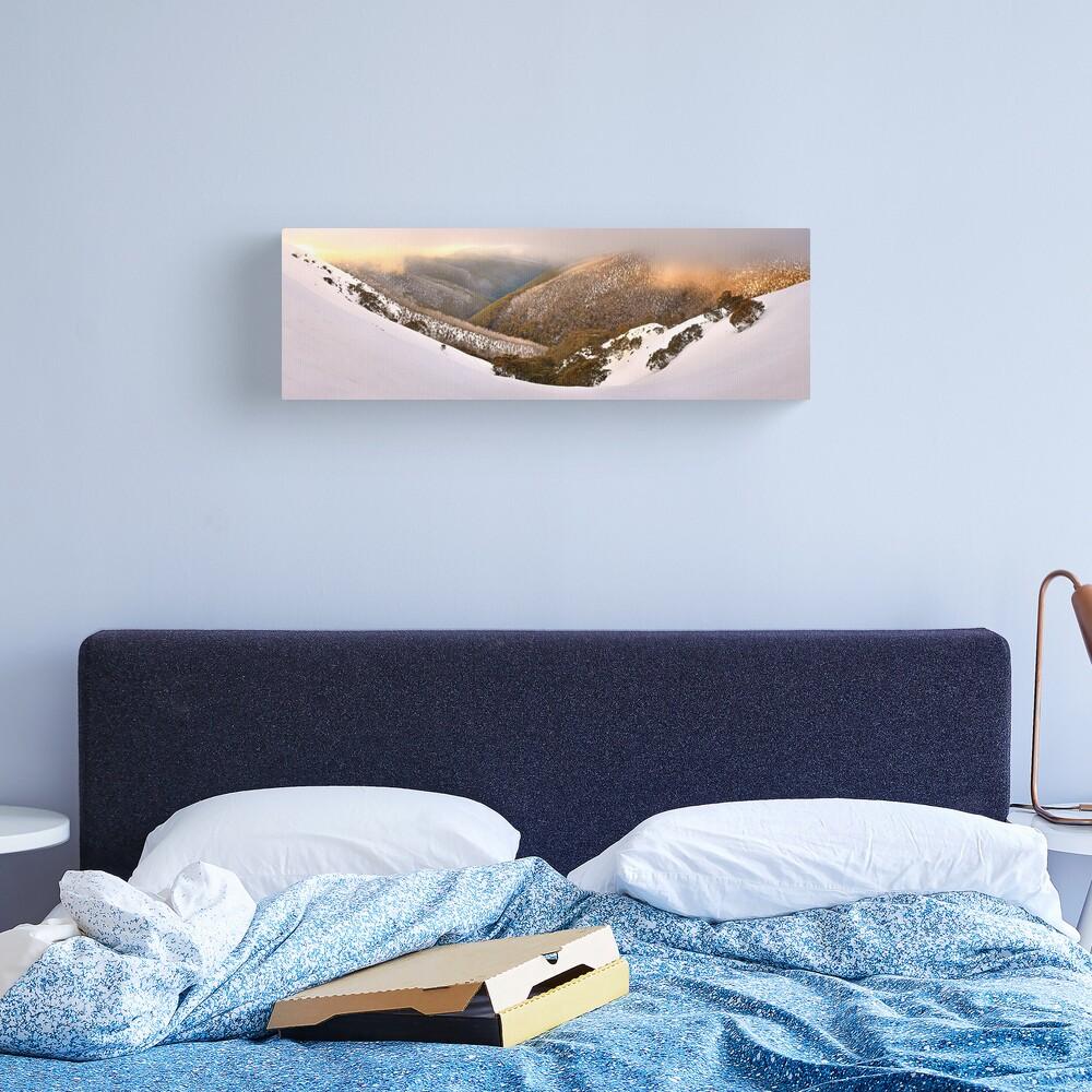 Foggy Dawn, Mt Hotham, Australia Canvas Print