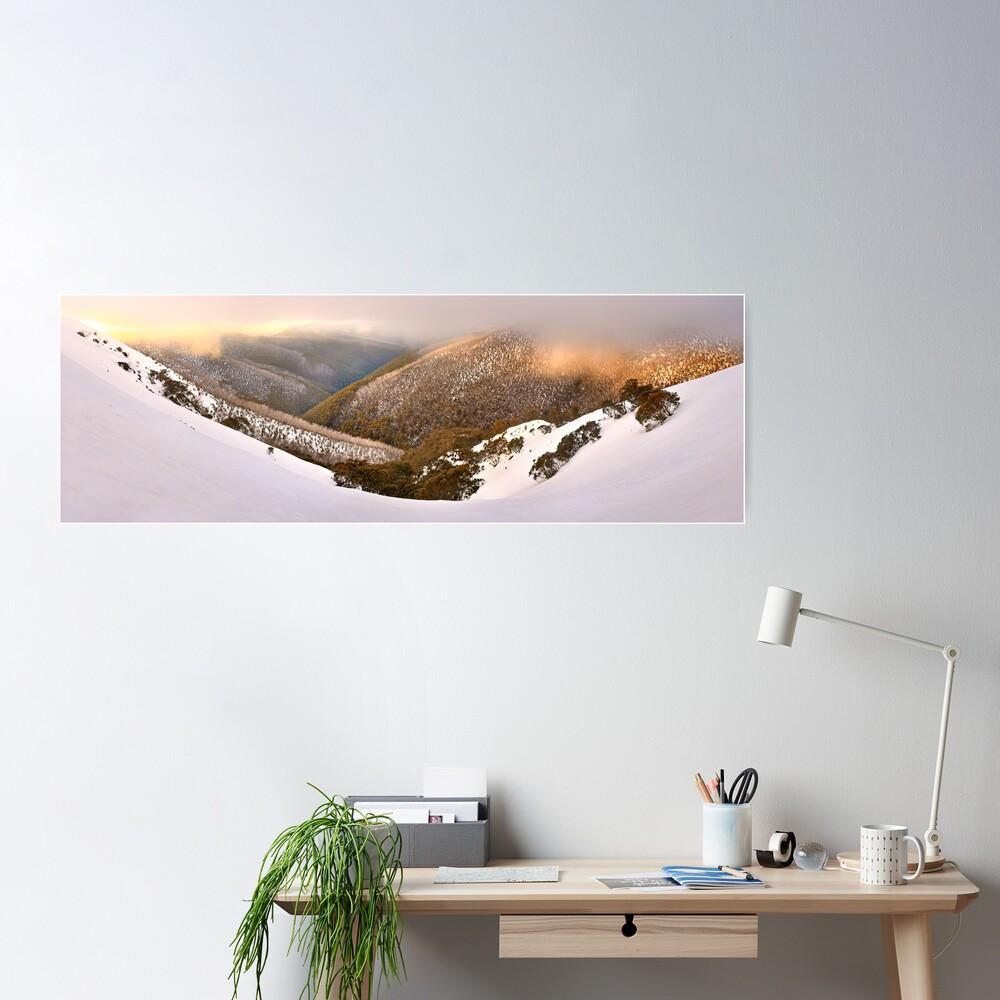 Foggy Dawn, Mt Hotham, Australia Poster
