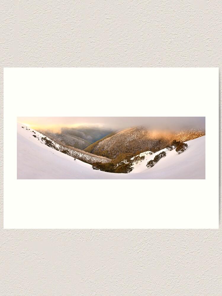Alternate view of Foggy Dawn, Mt Hotham, Australia Art Print