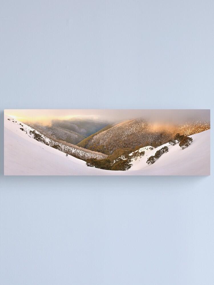 Alternate view of Foggy Dawn, Mt Hotham, Australia Canvas Print