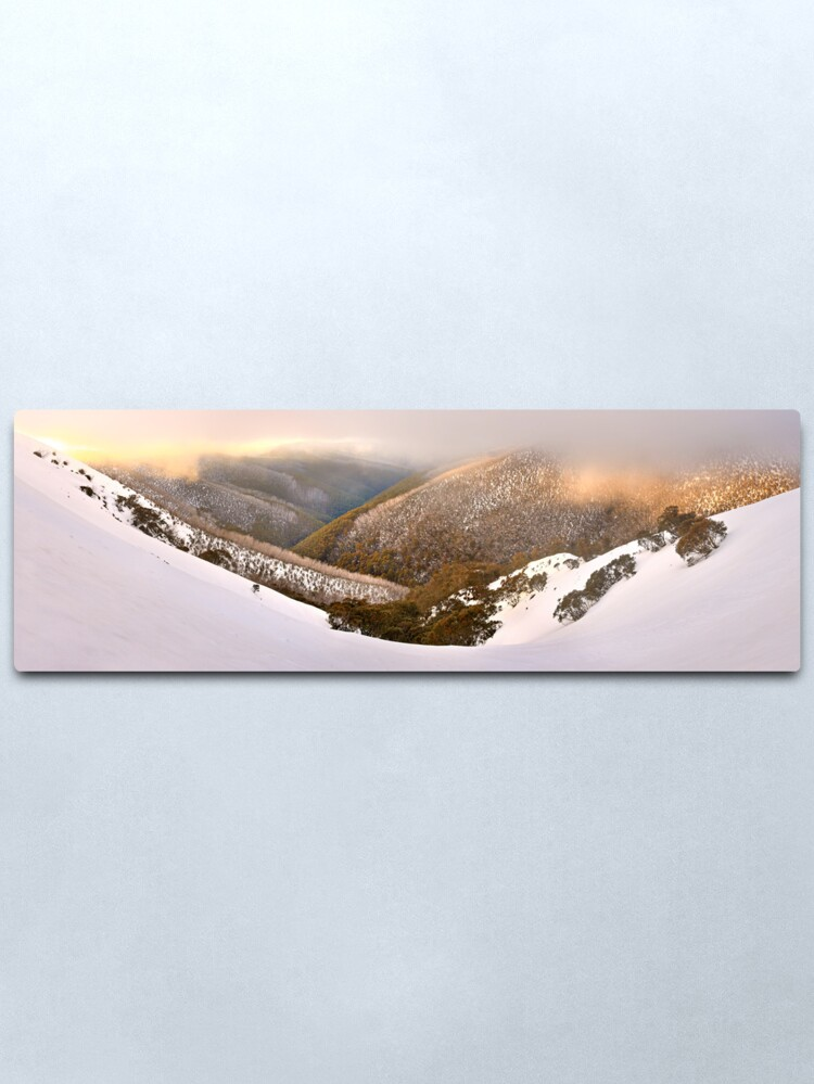 Alternate view of Foggy Dawn, Mt Hotham, Australia Metal Print
