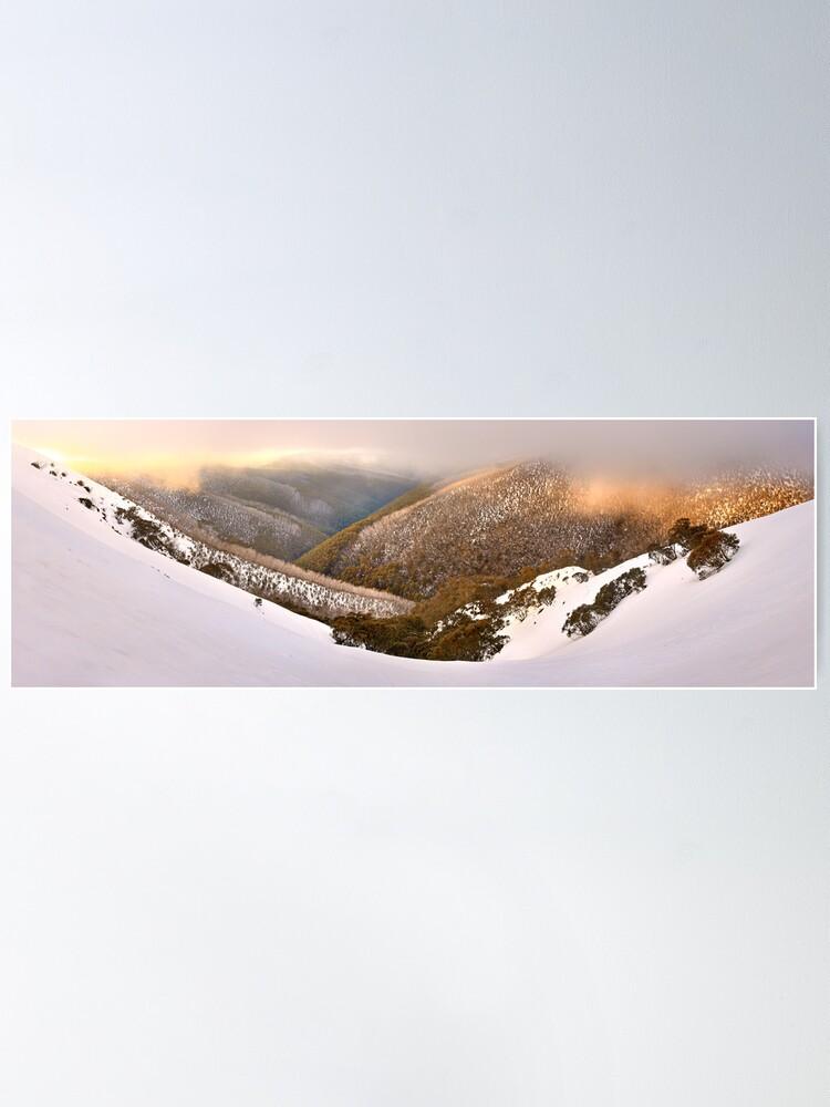 Alternate view of Foggy Dawn, Mt Hotham, Australia Poster
