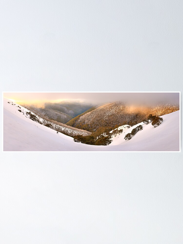 Alternate view of Foggy Dawn, Mt Hotham, Australia Poster