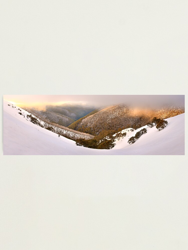 Alternate view of Foggy Dawn, Mt Hotham, Australia Photographic Print