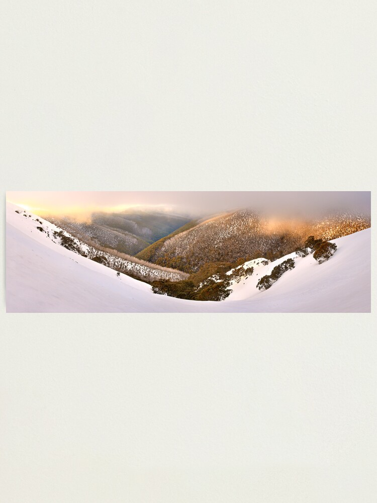 Alternate view of Foggy Dawn, Mt Hotham, Australia Photographic Print