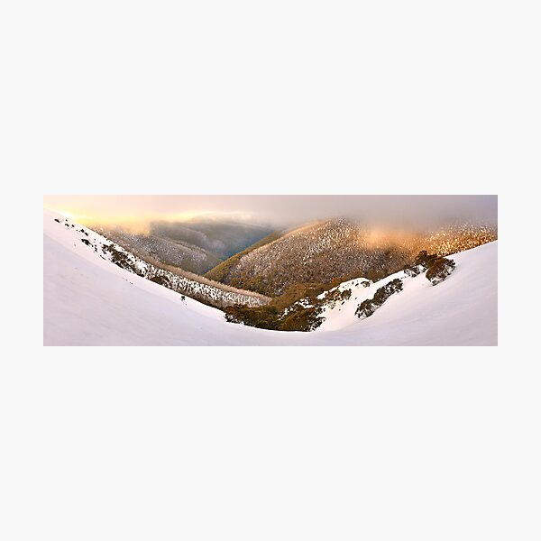 Foggy Dawn, Mt Hotham, Australia Photographic Print