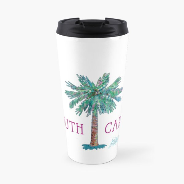 South Carolina Palmetto Tree and Moon by Jan Marvin Travel Mug