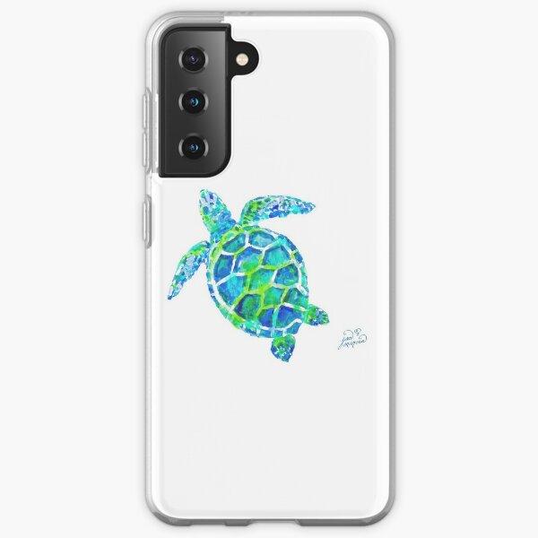 Sea Turtle no splots by Jan Marvin Samsung Galaxy Soft Case