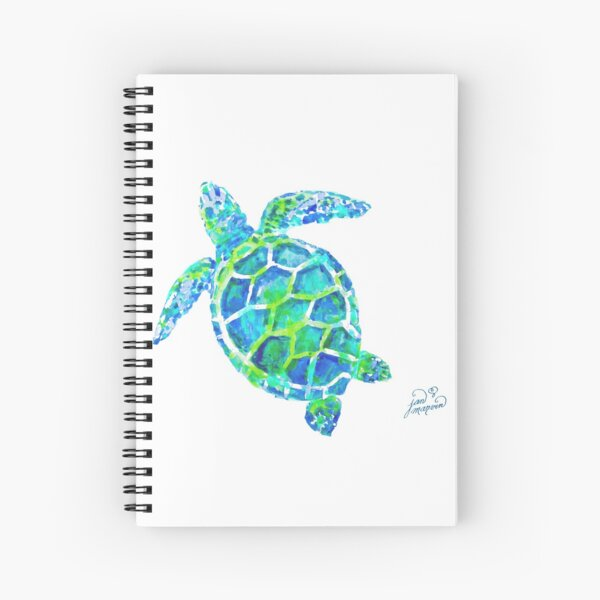 Sea Turtle no splots by Jan Marvin Spiral Notebook