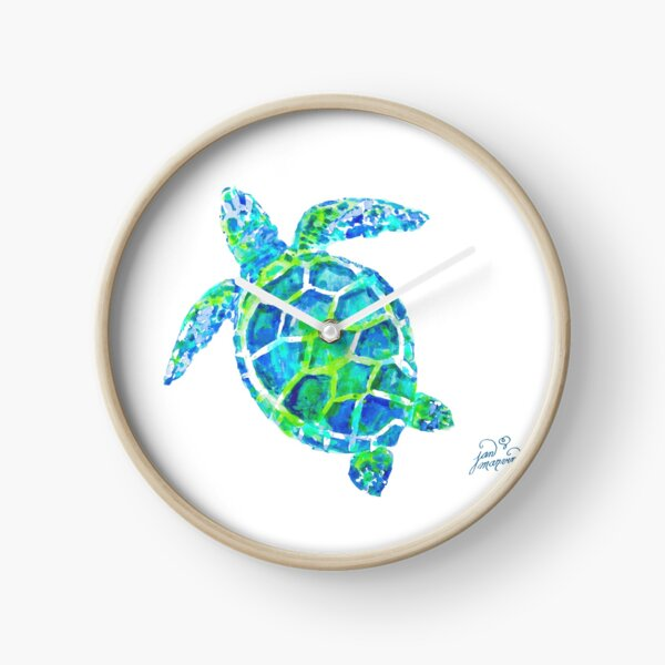 Sea Turtle no splots by Jan Marvin Clock