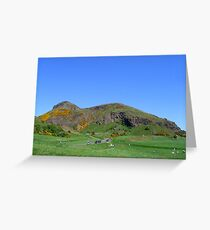 Arthur's Seat on a blue sky day Greeting Card