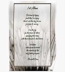 I sit alone... poem Poster
