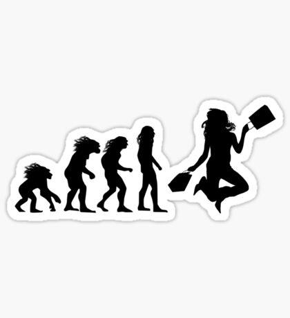 Shopper evolution Sticker