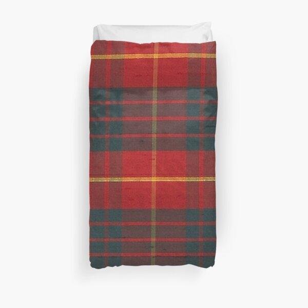 CAMERON CLAN RED-GREEN SCOTTISH TARTAN PLAID  Duvet Cover